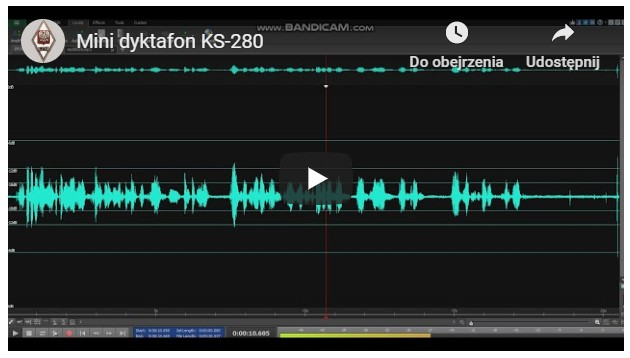 mini dyktafon KS-280