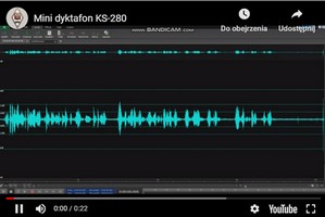 Zapis nagrania  KS-280